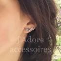 Boucles d'oreilles barrette épi argent