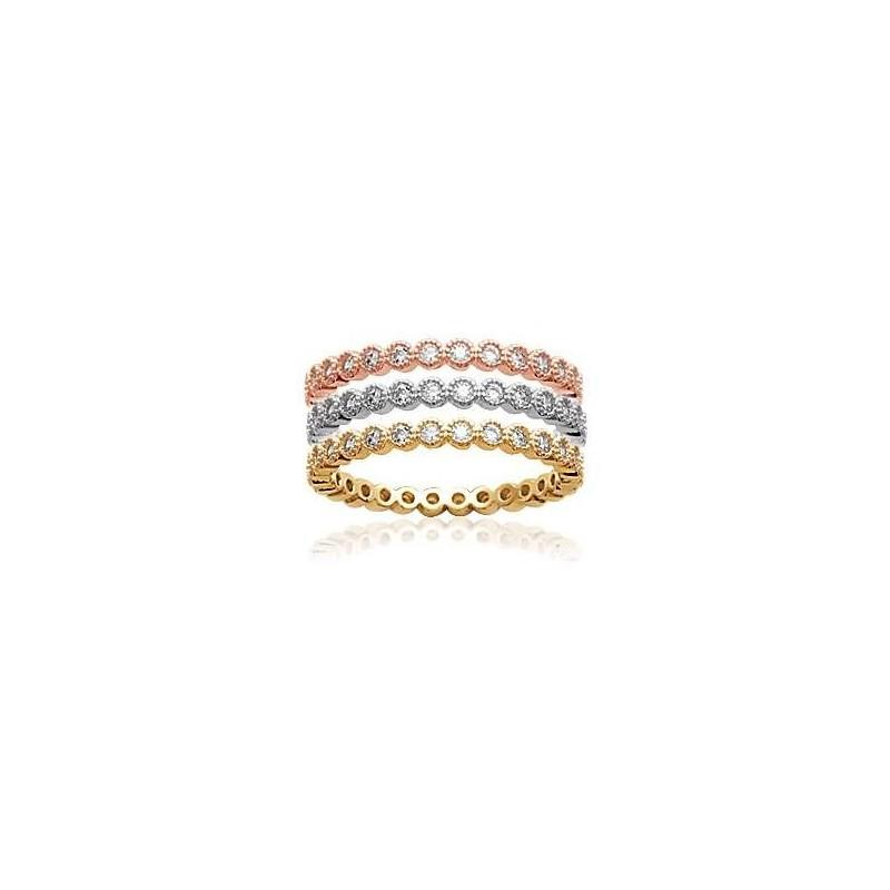 Bague anneau serti zirconium argent 925 plaqué or jaune ou rose a2baefe2100a
