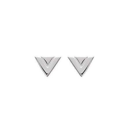 Boucles d'oreilles puces triangle argent