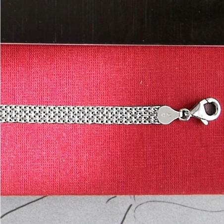 Bracelet chaîne plate argent