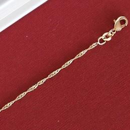 Bracelet fin plaqué or chaîne maille singapour torsadée