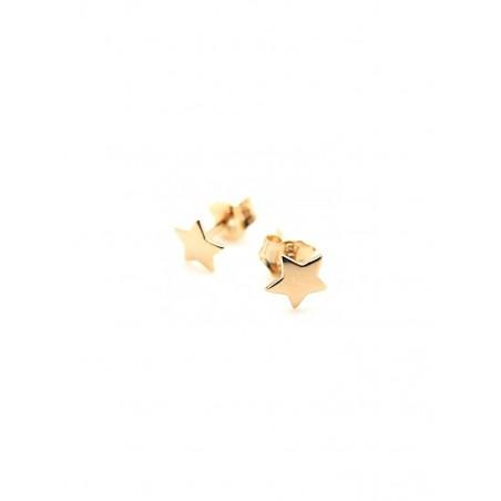 Boucles d'oreilles puces étoiles plaqué or