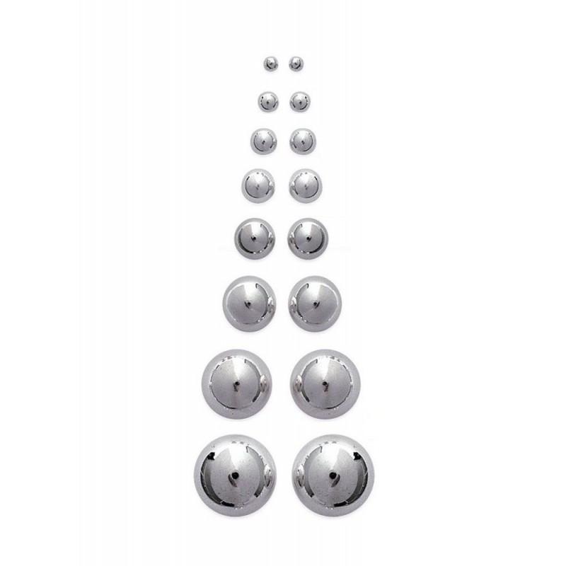Boucles d'oreilles puces boules argent