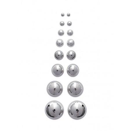 Boucles d'oreilles puces boules en argent 925