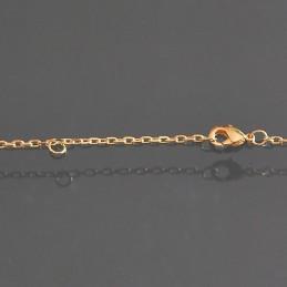 Collier deux anneaux plaqué or