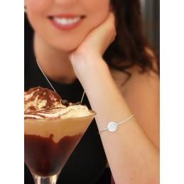 Bracelet Pastille à Graver Argent
