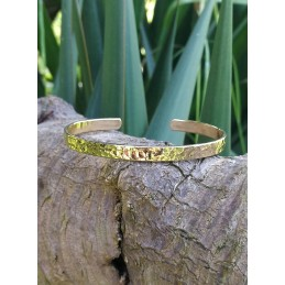 Bracelet jonc martelé plaqué or