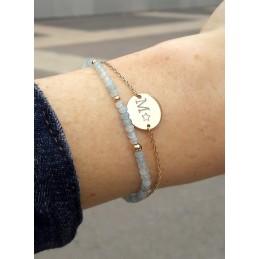 Bracelet Pastille à Graver Plaqué Or