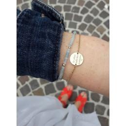 Bracelet gravure Plaqué or