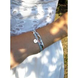 Bracelet Liberty Personnalisé Médaillon à Graver en Argent 925