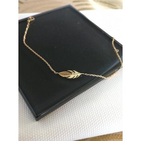 Bracelet Plume Plaqué or