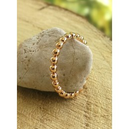 BAGUE FINE A SUPERPOSER EN PLAQUE OR ROSE
