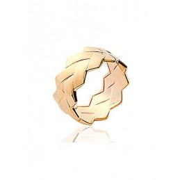 Bague géométrique Plaqué or