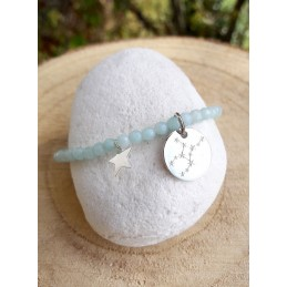 Bracelet Constellation Amazonite Argent