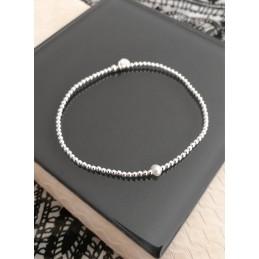 Bracelet perles en argent Perle d'eau douce