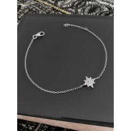 Bracelet Etoile Argent Zirconium