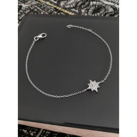 Bracelet Etoile du Nord Argent Zirconium