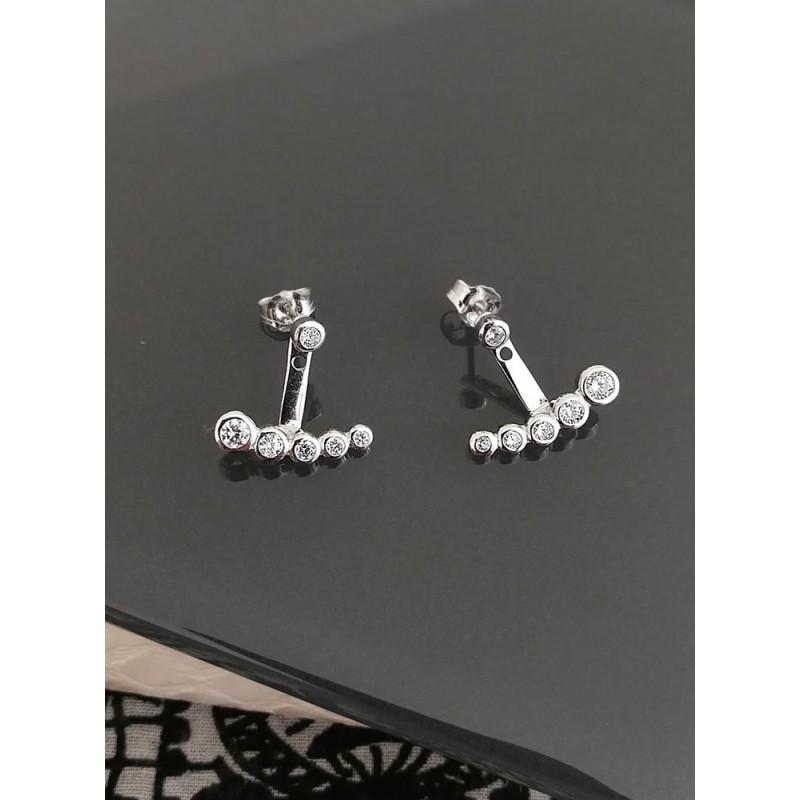 Boucles d'oreilles Dessous de Lobe Argent Zircon