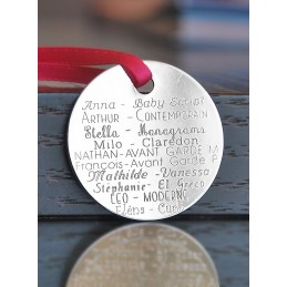 Collier deux médaillons personnalisés plaqué or