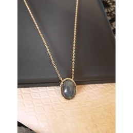 Collier labradorite or