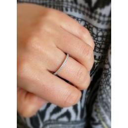 Bague anneau argent zirconium