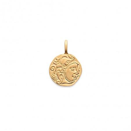 Pendentif médaille monnaie antique plaqué or