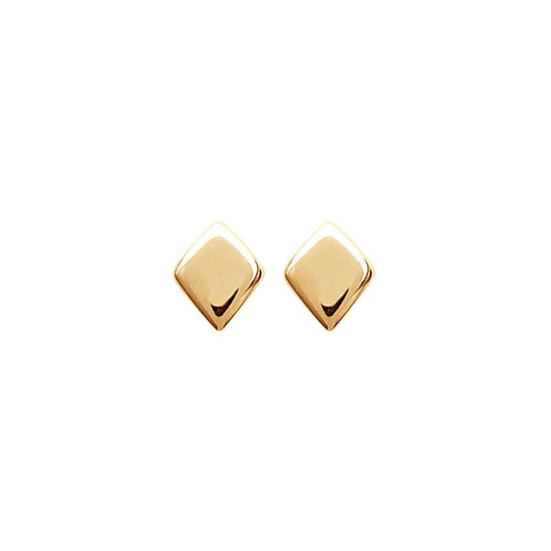Boucles d'oreilles puces plaqué or