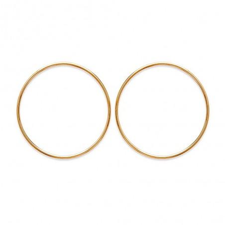 Créoles grands cercles évidés plaqué or