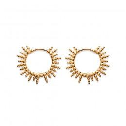 Boucles d'oreilles créoles soleil en plaqué or