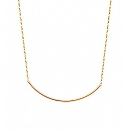 Collier fin plaqué or style minimaliste