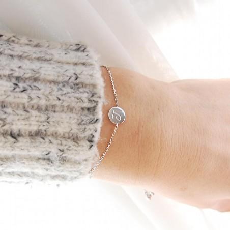 Bracelet personnalisé initiales à graver Argent
