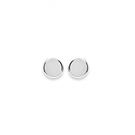 Boucles d'oreilles puces rondes pleine lune en argent