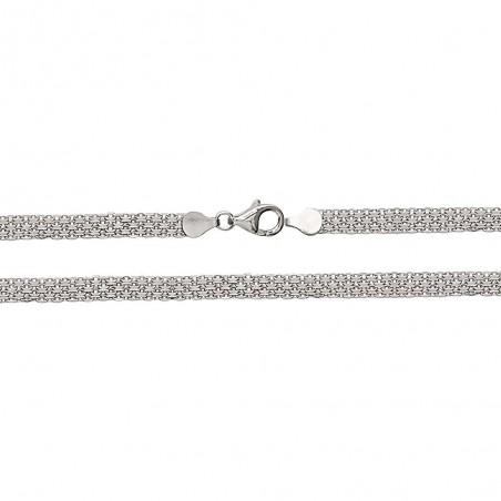 Bracelet argent chaîne plate tressée