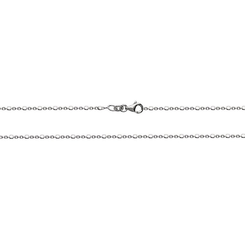 Bracelet argent chaîne maille cubes