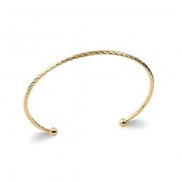 Bracelet jonc plaqué or ouvert devant
