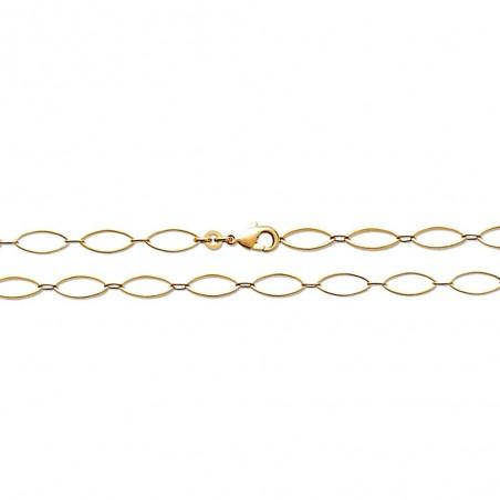 Bracelet chaîne maille navettes plaqué or