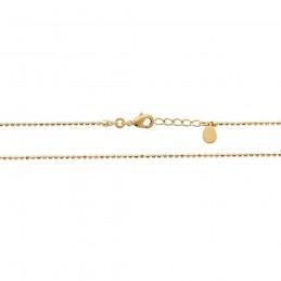 Bracelet fin plaqué or chaîne boules