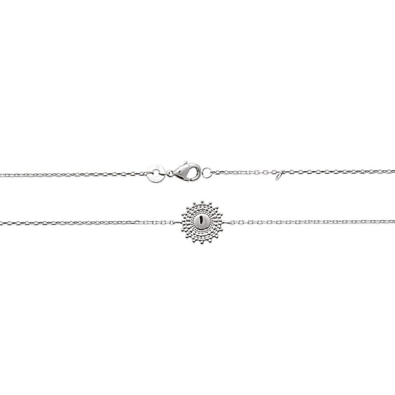 Bracelet argent motif soleil ajouré