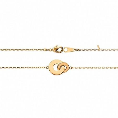 Bracelet deux anneaux plaqué or