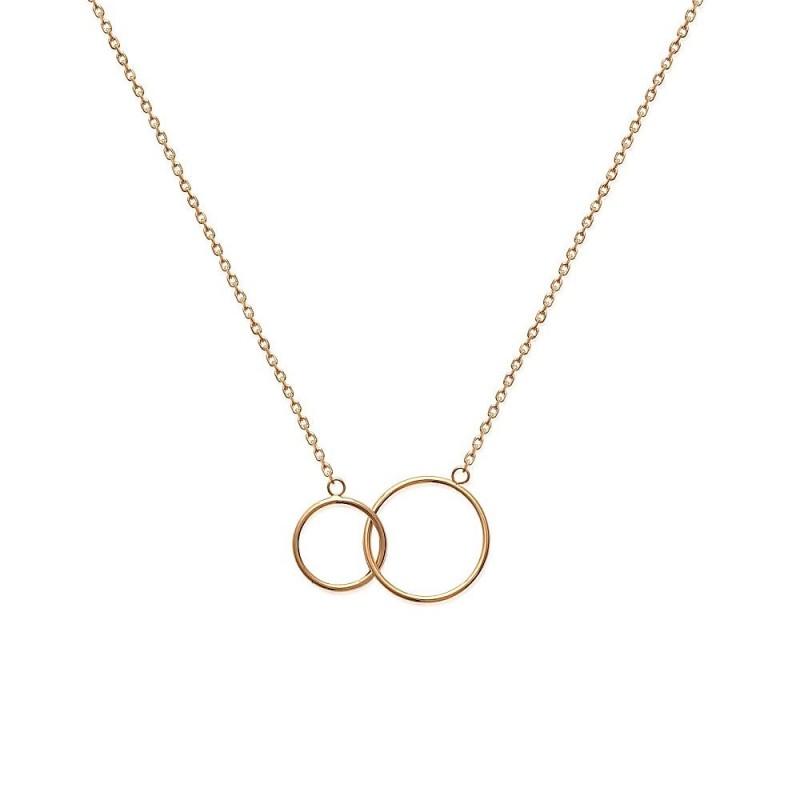 Collier deux anneaux entrelacés