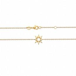 Bracelet plaqué or étoile polaire