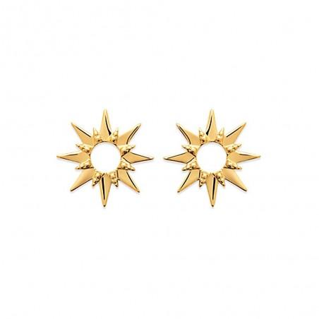 Boucles d'oreilles puces plaqué or Soleil