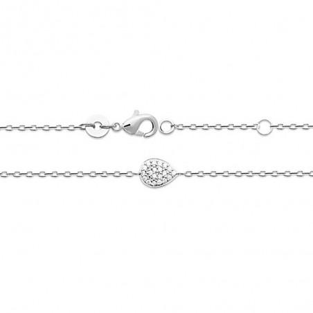 Bracelet argent motif goutte zirconium