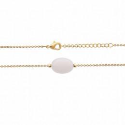 Bracelet plaqué or pierre de lune