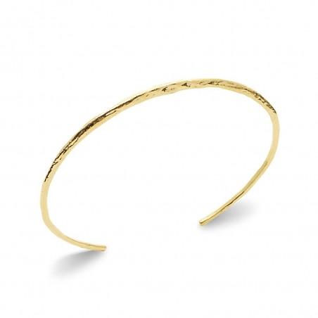 Bracelet jonc plaqué or finition martelée