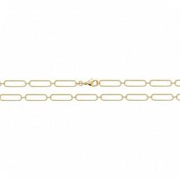 Bracelet maille rectangulaire plaqué or