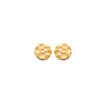 Boucles d'oreilles martelées plaqué or