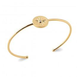 Bracelet jonc plaqué or étoile