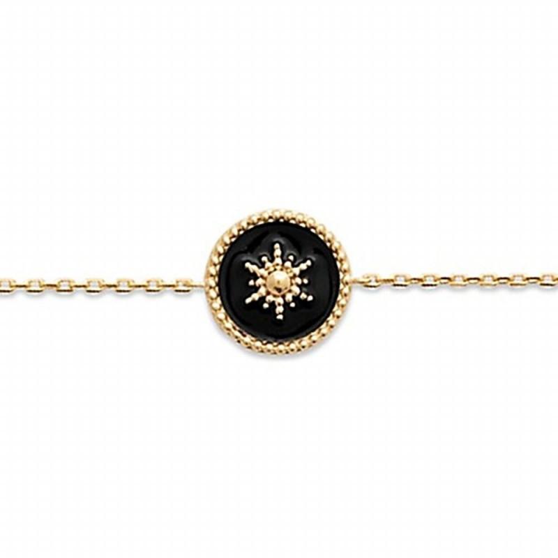 Bracelet fin plaqué or étoile
