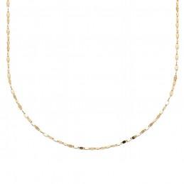 Collier plaqué or chaîne